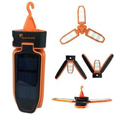 Folding Clover Solar LED 100 Lumen Camping Lantern  USB Rechargeable and Solar Chargeable  3 Level Brightness Including SOS Flashing  Hurricane Storm Tent Lantern  Only 6 High -- Check out the image by visiting the link.