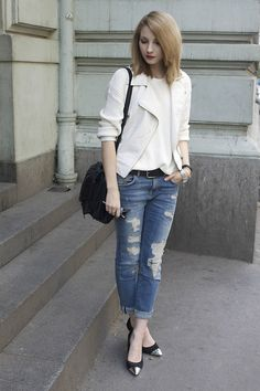 Ripped jeans (by Pavlina J.) http://lookbook.nu/look/3592405-ripped-jeans