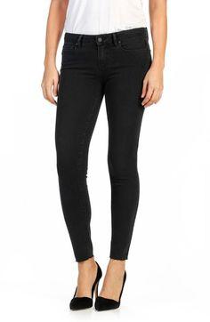 PAIGE 'Transcend - Verdugo' Raw Hem Ankle Ultra Skinny Jeans (Black Fog). #paige #cloth #