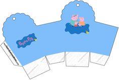 Caixa Cupcake Peppa Pig e Família: