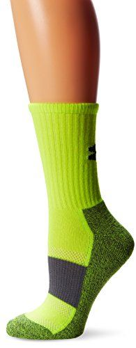 Under Armour Womens HeatGear All Sport Performance Crew Socks 1 Pair Hi Vis Yellow Medium >>> You can find out more details at the link of the image.Note:It is affiliate link to Amazon.