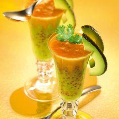Soupe perlée de carottes et brocolis façon cocktail  l Recette Tipiak