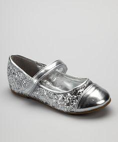 Silver Metallic Glitter Mary Jane