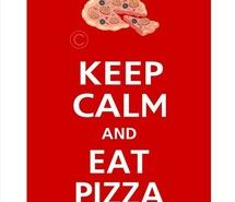 Inspiring picture cute, keep calm, pizza, red. Resolution: 570x836 px. Find the picture to your taste!