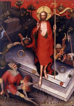 The Resurrection - Master of the Trebon Altarpiece, 1380s, Národní Galerie, Prague
