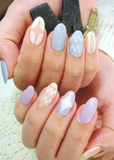 Gorgeous pastel almond nail manicure!  Come to Luxury Spa & Nails for all of your pampering needs! Call (803) 731-2122 or visit www.luxuryspaandnails.weebly.com for more information!