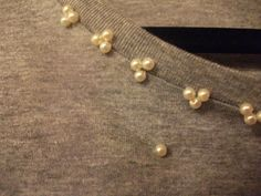 A Wardrobe Full Of Dreams...: DIY Project: Customised Oversized Pearl Embellished T-Shirt