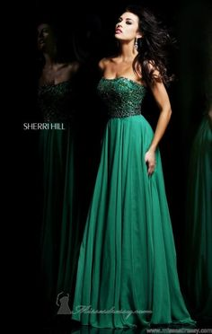 Love this dress in green - by Sherri Hill