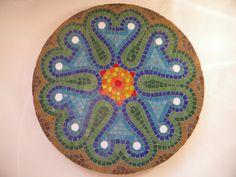 Ephasus Round Mosaic Tabletop  Original Art by TheMosartStudio, $250.00