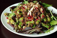 Pomegranate-Lime Asparagus Quinoa Salad