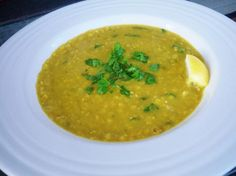Middle Eastern Lentil Soup (Shorbat Adas, seasoned with exotic tumeric and earthy cumin): This heavenly lentil soup is a dead ringer for my favorite Middle Eastern restaurant's version. They win best of the best every year, so that should tell you something about how amazing and authentic this recipe is! Be sure to use the Maggi brand chicken cubes - they are the secret ingredient! (I use them in place of Wyler's in every soup recipe, now. They're that good!)