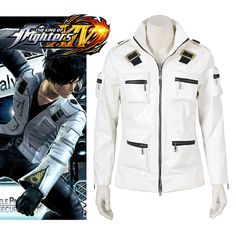 ==> [Free Shipping] Buy Best [Stock]Leather Jacket!! Game THE KING OF FIGHTERS KOF14 Kyo Kusanagi Cosplay Costume Gloves Hot sale S-XL New 2017 free shippin Online with LOWEST Price   32817179104