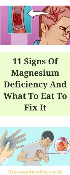 11 SIGNS OF MAGNESIUM DEFICIENCY AND WHAT TO EAT TO FIX IT