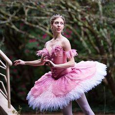 Lana Jones as Aurora promoting David McAllister's new production of the Sleeping Beauty for the Australian Ballet. Photography: Kate Longley