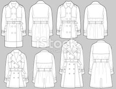 Fashion Design Template, Fashion Templates, Fashion Design Sketches, Pattern Fashion, Flat Drawings, Flat Sketches, Technical Drawings, Croquis Fashion, Fashion Sketchbook