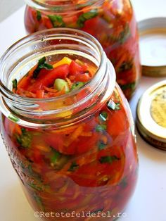 Romanian Food, Romanian Recipes, Good Food, Yummy Food, Meals In A Jar, Canning Recipes, Yummy Eats, Desert Recipes, Pickles