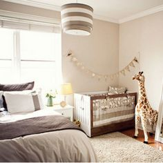 When you live in a small apartment, it's a bit hard to make space for baby. Save space by sharing the room with the baby until you find a larger home!