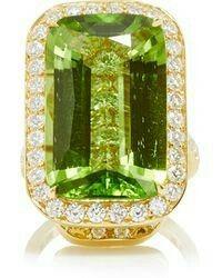 Peridot diamond ring by Paolo Costagli