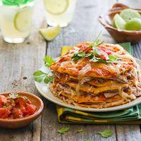 Chipotle Shredded Pork Enchiladas - Family Recipe from Muy Bueno Cookbook