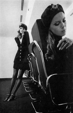 1st March 1968 - UK Vogue Birgitta af Klercker & Willy van Rooy Photo by Helmut Newton
