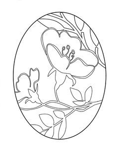 easter egg coloring pages | Printable Easter Egg - Stained Glass Coloring Page