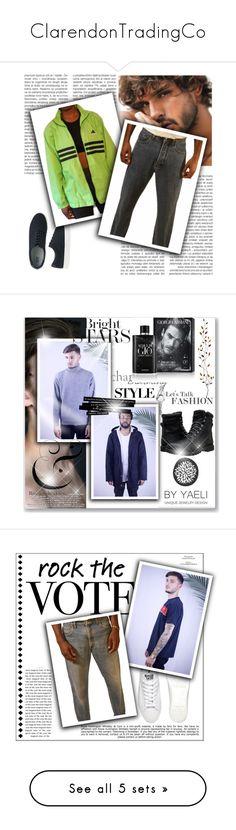 """ClarendonTradingCo"" by emina-095 on Polyvore featuring vintage, men's fashion, menswear, moda, Pier 1 Imports, Whiteley, Lacoste, Oris, Calvin Klein i R13"