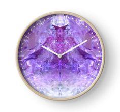 Amethyst Clock by lightningseeds® for crystalapertures.rocks.