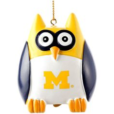 "Michigan Wolverines 2.5"" Owl Ornament - $7.99"