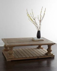 Coffee Table for Family Room McCarren Coffee Table at Horchow. Oversized Coffee Table, Large Square Coffee Table, Weathered Furniture, Distressed Furniture, Rustic Coffee Tables, Diy Coffee Table, Wood Tables, Handmade Table, Handmade Furniture