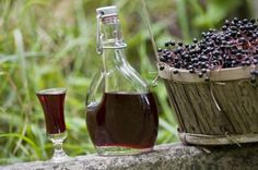 Elderberry Liqueur.  I've made this, and it is delicious!    And because of all the benefits of Elderberries, you can almost argue that it is good for you...