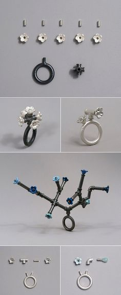 """Pipeworks,"" the awesome series by Korean jeweller Jina Seo."