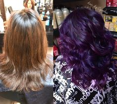I am loving the new purple hues that come out of the combination of Lanza Vibes, Pulp Riot, and Redken City Beats color. Hair color artists shouldn't limit themselves with using just one hair color brand.. Hair by @cynthia_melchor #paintedhair #salon #nofilter #balayage #salonexclusive #redken #redkenready #redkenhair #redken5thavenue #redkencitybeats #rogersarkansas #salon #lanzalove #pulpriothair #ilovemyjob #makeover #cosmetology #haircolor #purplehair #redkenstylist #pillowproof