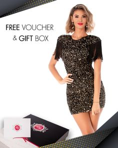Rochie disponibila pe www.bby.ro Free Vouchers, Glow, Outfit, Gifts, Collection, Outfits, Presents, Favors, Sparkle