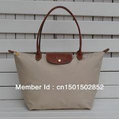 New Women's French Style nylon Long LCP Handbag shopping folding tote duffle shoulder dumpling bag $74.99