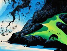 """Eyvind Earle: An Exhibit of a Disney® Legend"" on view at Forest Lawn Museum – ArtsBeatLA Animation Film, Disney Animation, Forest Lawn Memorial Park, Eyvind Earle, Sleeping Beauty Castle, Walt Disney Studios, Retro Art, Modern Retro, Japanese Prints"