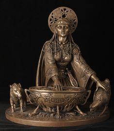 Ceridwen ou Cerridwen (lê-se Quériduen)-deusa do poder e sabedoria,Cerridwen é a deusa da vidência e da magia, tendo adquirido a posição de rainha e protetora da prática e de seus praticantes. É também deusa do conhecimento, tanto mágico como geral; e ao contrário de muitos deuses, possui a habilidade de se transmutar em plantas ou outros animais, deusa da morte e renascimento, fúria, intuição, transformação (espiritual, psicológica, etc) e inspiração.