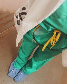 Short white coat on surgery rotation