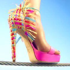 Watch a Model Walk a Tightrope in Heels in Net-a-Porter's Shoe Video