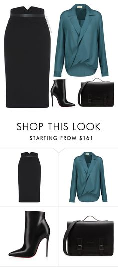 """Work Wear"" by stylebyshannonk on Polyvore featuring L'Agence and Christian Louboutin"