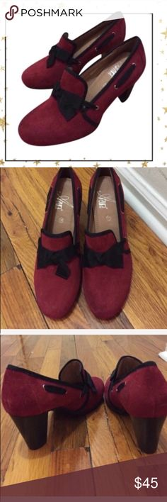 Vintage Pin up Style Hotter Heels Elegant shoes are an essential accessory to compliment any ensemble. Synthetic suede leather . New but no box Shoes Heels