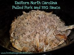 Eastern NC Pork and BBQ Sauce - Must try this one.  Could it be as good as what I got in my dad's hometown.