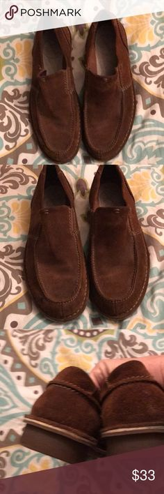 Shoes Clark 1825 slip on shoes these are brand new size 10 1/2 brown suede Clark 1825 Shoes Loafers & Slip-Ons