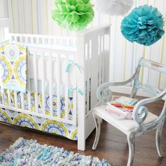 Lime Green Bedding Sets, Lime Green Baby Bedding, Blue Green Baby Bedding, Blue and Green Baby Bedding