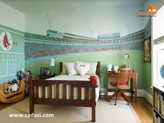 #lasmejorescasasdemexico LAS MEJORES CASAS DE MÉXICO. ¿Cómo decorar una habitación con motivos deportivos? Si sus hijos son amantes de los deportes, este diseño les va a encantar. Se trata de pintar las paredes como si fueran la tribuna de un estadio y adornar con accesorios alusivos al deporte de su preferencia. Le invitamos a vivir en SENDAS DEL BOSQUE, desarrollo de Grupo Sadasi en el estado de Coahuila 01(800)10801080.