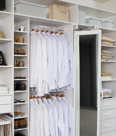 Academic Premier Built-in Wardrobes | Wardrobe layouts - a hinged mirror could be handy if we go for sliding doors