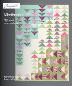 I love the pattern of this quilt. You can find it on Gotham Quilts' blog: tula-pink-elizabeth-misdirection-quilt