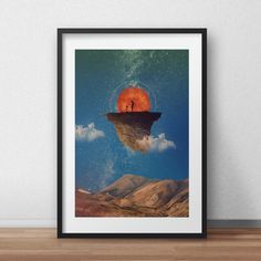 The Little Prince Inspired Sureal Art Print Abstract Nature Artwork Prints, Poster Prints, Best Movie Posters, Abstract Nature, The Little Prince, Sale Poster, Graphic Design, Fine Art, Digital
