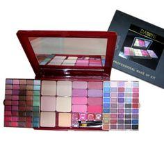 90 Farben schimmern Lidschatten + 5 Farben + Puder Rouge 8 Farben + 4 Farben Lipgloss