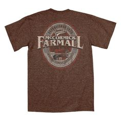 Farmall Oval Heather Brown Men's T-Shirt