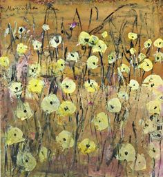 """Anselm Kiefer,  A harmless Flowers Anselm Kiefer labeled with the word """"Morgenthau Plan"""" and gives him a political note."""